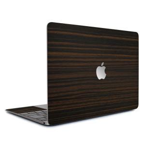 Macbook Air 13インチ スキンシール ケース カバー ステッカー フィルム wraplus 選べる31色 エボニー|wraplus