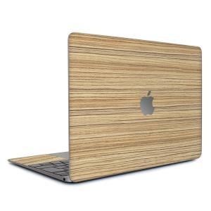 Macbook Air 13インチ スキンシール ケース カバー ステッカー フィルム wraplus 選べる31色 ゼブラウッド1 wraplus
