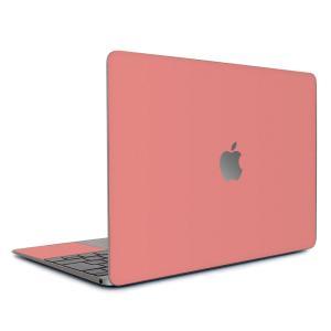 Macbook Air 13インチ スキンシール ケース カバー ステッカー フィルム wraplus 選べる31色 サーモンピンク wraplus