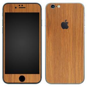 iPhone6s Plus iPhone6 Plus スキンシール 前面 背面 シール ケース wraplus 選べる31色 オーク|wraplus
