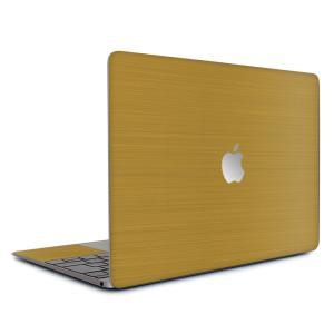 Macbook Air 13インチ スキンシール ケース カバー ステッカー フィルム wraplus 選べる31色 ゴールドブラッシュメタル|wraplus
