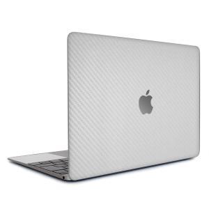 Macbook Air 13インチ ステッカー ケース カバー スキンシール (シルバーカーボン) wraplus 銀 おしゃれ 薄型 インナー