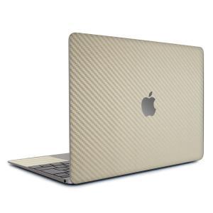 Macbook Air 13インチ ステッカー ケース カバー スキンシール (ゴールドカーボン) wraplus 金 おしゃれ 薄型 インナー