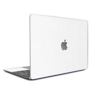 Macbook Air 13インチ ステッカー ケース カバー スキンシール (ホワイトレザー) wraplus レザー 本革 合皮 ブランド