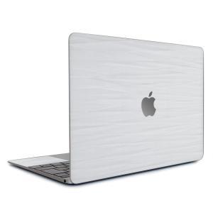 Macbook Air 13インチ ステッカー ケース カバー スキンシール (ホワイトアブストラクト) wraplus シンプル ジャケット