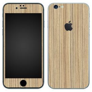 iPhone6s Plus iPhone6 Plus スキンシール 前面 背面 シール ケース wraplus 選べる31色 ゼブラウッド1|wraplus