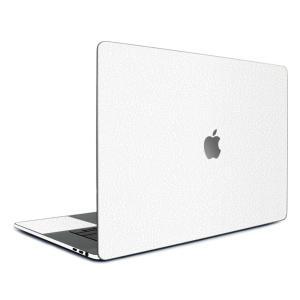 Macbook Pro 15インチ スキンシール ケース カバー フィルム 2016 Retina 対応 wraplus 選べる31色 ホワイトレザー|wraplus