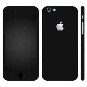 iPhone6s iPhone6 スキンシール 全面 360° カバー シール ケース wraplus 選べる31色 ブラック 黒|wraplus