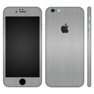iPhone6s iPhone6 スキンシール 全面 360° カバー シール ケース wraplus 選べる31色 シルバーブラッシュメタル|wraplus