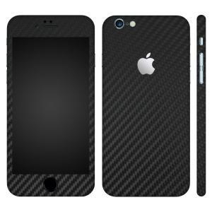 iPhone6s iPhone6 スキンシール 全面 360° カバー シール ケース wraplus 選べる31色 ブラックカーボン|wraplus