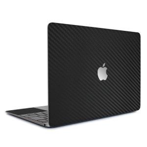 Macbook Retina 12インチ スキンシール ケース カバー フィルム wraplus 選べる31色 ブラックカーボン|wraplus