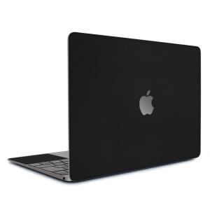Macbook Retina 12インチ スキンシール ケース カバー フィルム wraplus 選べる31色 ブラックレザー|wraplus