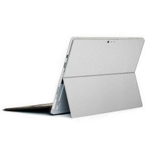 Surface Pro6 Pro 第5世代 Pro4 LTE スキンシール ケース 背面 wraplus シルバーカーボンの商品画像|ナビ
