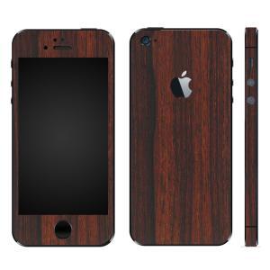 iPhoneSE iPhone5S iPhone5 スキンシール 全面 シール ケース カバー wraplus 選べる31色 ローズウッド|wraplus