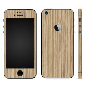 iPhoneSE iPhone5S iPhone5 スキンシール 全面 シール ケース カバー wraplus 選べる31色 ゼブラウッド1|wraplus
