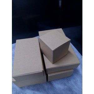 ボックス茶 縦100×横100×高さ100mm 10枚セット 丈夫でナチュラル風合い(茶色) Z-1 wrapping1