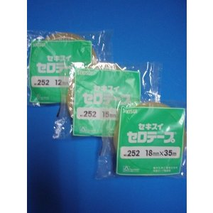 積水セロテープ12ミリ×35m巻  1巻ポリパック入り|wrapping1