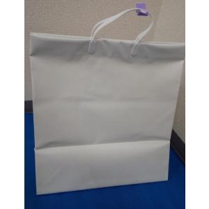 パール大手提げ袋 白無地 幅400×高450×奥270ミリ|wrapping1
