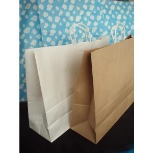 お得なまとめ買い!大型手提げ紙袋 未晒茶無地60-2 100枚入|wrapping1