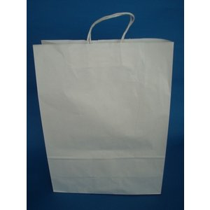 お得なまとめ買い 大型手提げ紙袋 白無地 45-1 200枚入|wrapping1