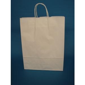 お得なまとめ買い手提げ紙袋 白無地 2才200枚入|wrapping1