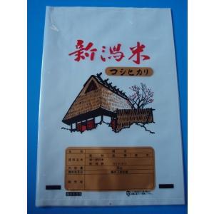ポリ製米袋  新潟米絵コシヒカリ文字あり 5キロ用 100枚入|wrapping1