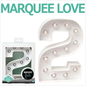 MARQUEE LOVE letters LEDイニシャルライトオブジェ マーキーライト マーキーレター ナンバー2 312022 wrappingclub1