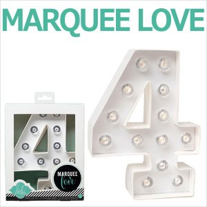 MARQUEE LOVE letters LEDイニシャルライトオブジェ マーキーライト マーキーレター ナンバー4 312024 wrappingclub1