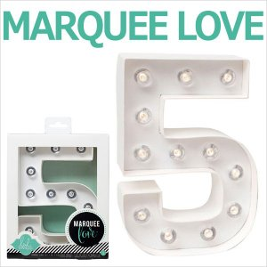MARQUEE LOVE letters LEDイニシャルライトオブジェ マーキーライト マーキーレター ナンバー5 312025 wrappingclub1