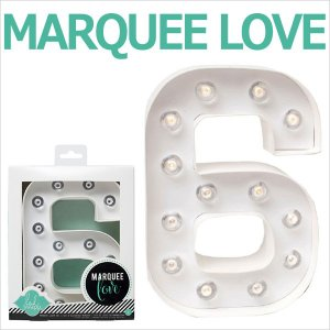 MARQUEE LOVE letters LEDイニシャルライトオブジェ マーキーライト マーキーレター ナンバー6 312026 wrappingclub1