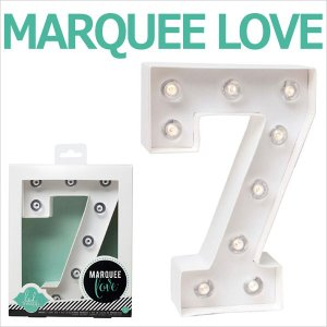 MARQUEE LOVE letters LEDイニシャルライトオブジェ マーキーライト マーキーレター ナンバー7 312027 wrappingclub1