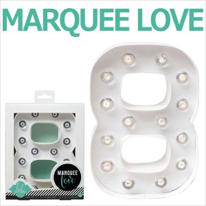 MARQUEE LOVE letters LEDイニシャルライトオブジェ マーキーライト マーキーレター ナンバー8 312028 wrappingclub1