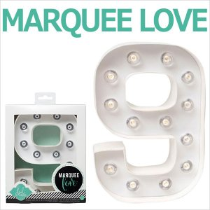 MARQUEE LOVE letters LEDイニシャルライトオブジェ マーキーライト マーキーレター ナンバー9 312029 wrappingclub1