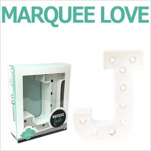 MARQUEE LOVE letters LEDイニシャルライトオブジェ マーキーライト マーキーレター 369089 MARQUEE KIT J wrappingclub1