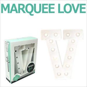 MARQUEE LOVE lettersLEDイニシャルライトオブジェマーキーライト マーキーレター369101 MARQUEE KIT V wrappingclub1