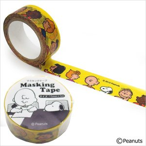 マスキングテープ マステ ピーナッツ スヌーピー イエロー ES049D 15mm×5m ネコポス対応
