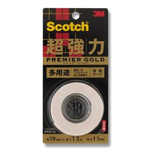 3M/スコッチ/Scotch超強力両面テープ プレミアムゴールド(多用途)KPG19|wrappingclub1