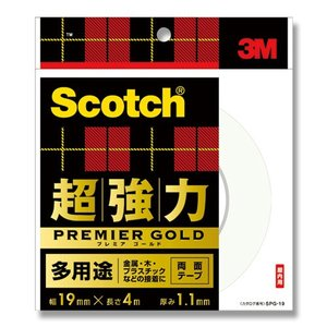 3M/スコッチ/Scotch超強力両面テープ プレミアムゴールド(多用途) SPG19|wrappingclub1