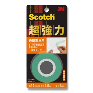 3M/スコッチ/Scotch超強力両面テープ 透明素材用 KTD19|wrappingclub1