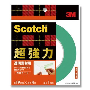 3M/スコッチ/Scotch超強力両面テープ 透明素材用 STD19|wrappingclub1