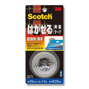 3M/スコッチ/Scotchはがせる両面テープ 超透明/薄手 KRS−15|wrappingclub1