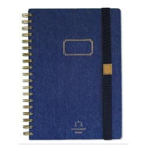 本物のデニム生地を使ったノートブックです!  使い込めば使い込むほど味の出る仕上がり。  極厚の表紙...