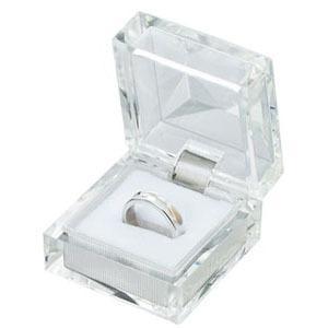 ジュエリーケース アクセサリーケース  350 クリスタルケース ホワイト 指輪 リング ・ピアス イヤリング ・ネックレス用|wrappingclub1