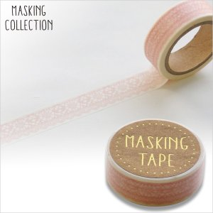 マスキングテープ  ワールドクラフト レースピンク W02-MK-T0030 15mm×7m ネコポ...