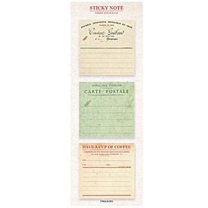 クラシカルでシンプルなレトロ付箋です。  ●サイズ:65×65mm ●内容量:20枚×3種=60枚 ...