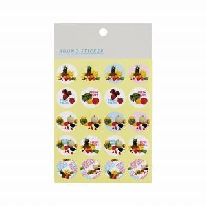 丸シール HEIKO シモジマ ファンシーペーパーシリーズ レターフルーツ SM3702 2シート|シモジマラッピング倶楽部