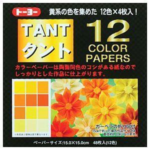 折り紙 トーヨー 068003 タント12カラーYE 黄系 ...