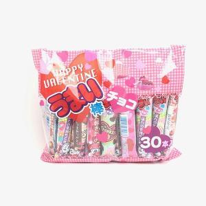 バレンタインお菓子  バレンタインうまい棒 チョコ味 30本