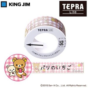 感熱式プリンター「テプラ」Lite専用テープ!可愛いリラックマ柄です!  手のひらにすっぽり収まるコ...