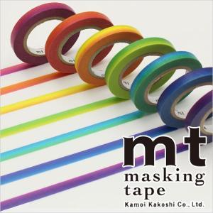 マスキングテープ  mt カモ井加工紙 mt レインボーテープ 7巻入りパック 6mm×10m MT...